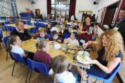 MP David Laws visits Redstart Primary School for free school meal