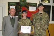 Ilminster cadets awarded Denis Lucy Prize
