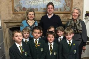 Chard School children visited by South Somerset MP Marcus Fysh